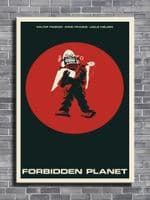 1950's Movie - FORBIDDEN PLANET - Anne Francis Minimal / canvas print - self adhesive poster - photo